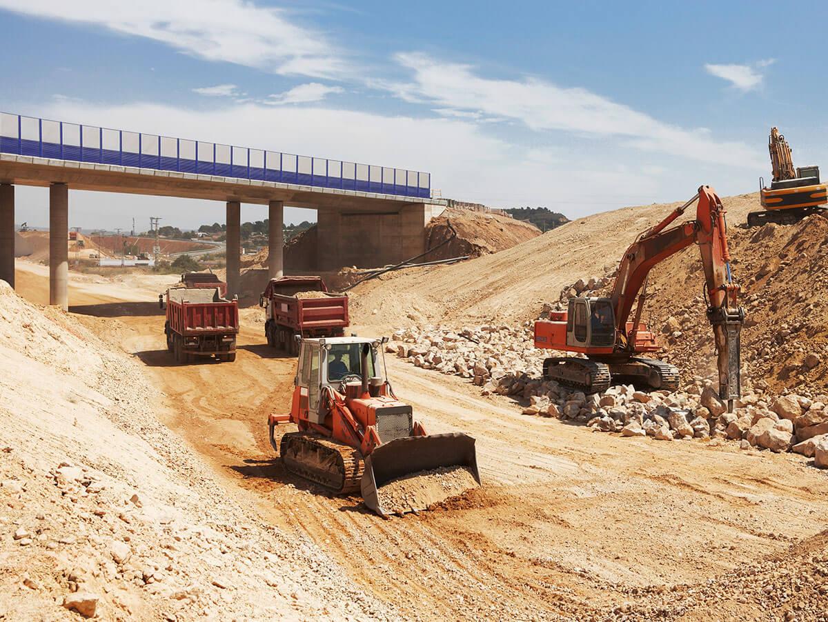 הכנת תשתית לסלילת כבישים